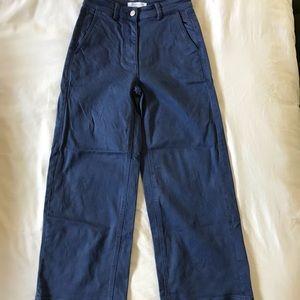 Everlane blue wide leg crop jean pant